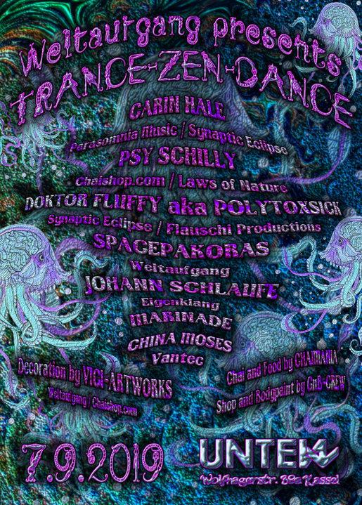 Party Flyer Trance-Zen-Dance 7 Sep '19, 23:00