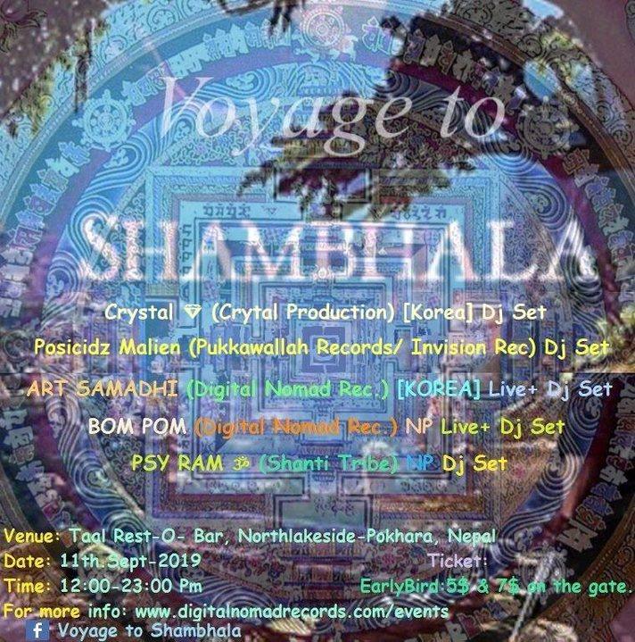 Party Flyer Voyage to Shambhala 11 Sep '19, 12:00