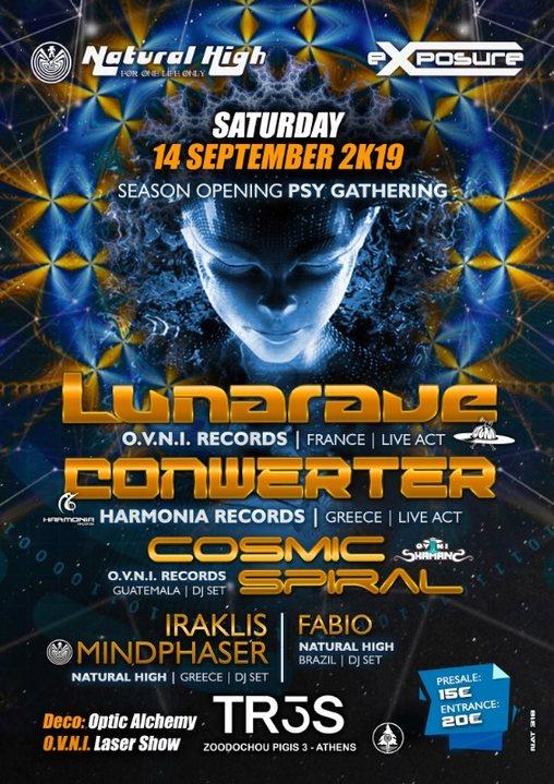 Lunarave / Conwerter & Cosmic Spiral in Athens on Sat 14 Sept !!! 14 Sep '19, 23:30