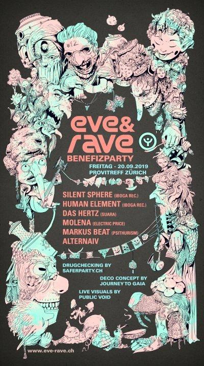 eve&rave Benefizparty 2019 inkl. Drugchecking 20 Sep '19, 22:00