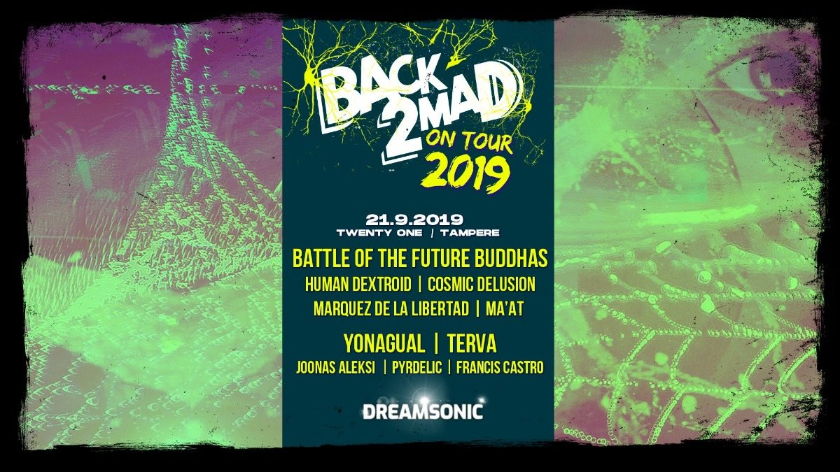 Party Flyer Back2Mad on Tour 2019 21 Sep '19, 21:00