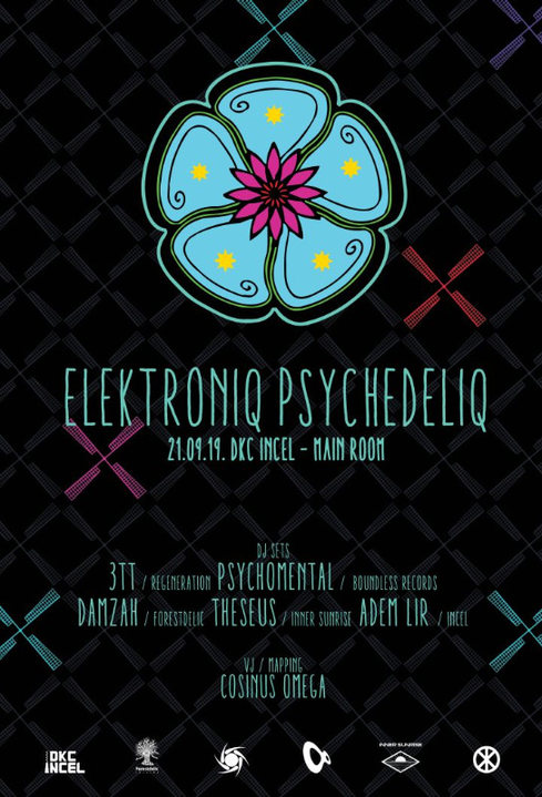 Party Flyer Elektroniq Psychedeliq 21 Sep '19, 23:00