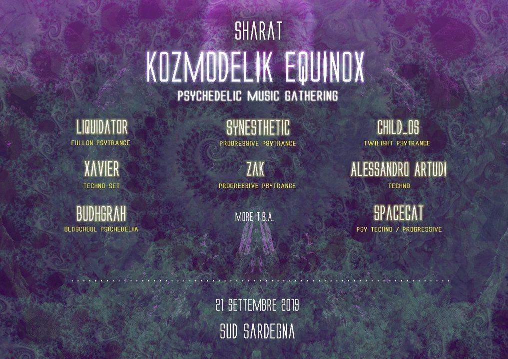 Party Flyer SHARAT - A Kozmodelik EquinoX 21 Sep '19, 19:00