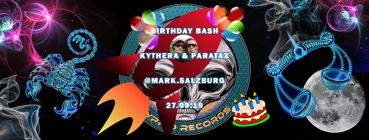 Party Flyer Birthday Bash by Hyprid Rec. 27 Sep '19, 22:00