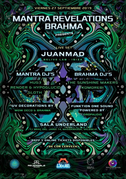 Mantra Revelations & Brahma presents: JUANMAD live! 27 Sep '19, 23:00