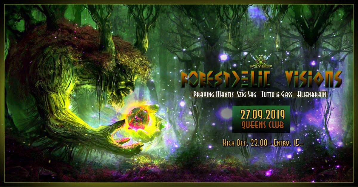 Party Flyer Psybox - Forestdelic Visions 27 Sep '19, 22:00