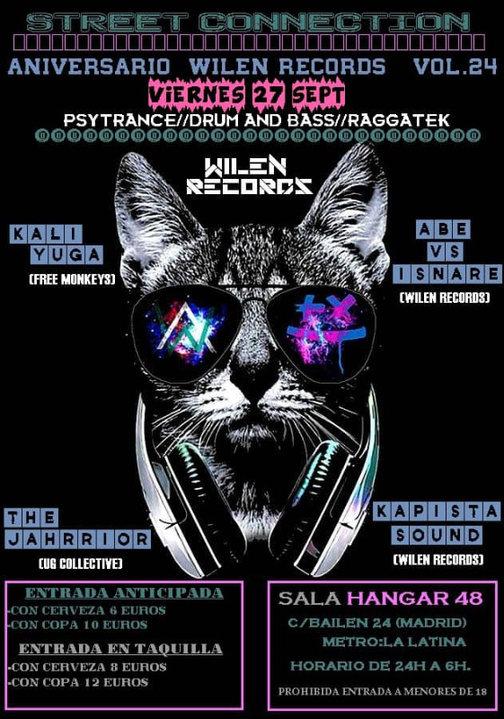 Party Flyer Street Connection vol.24 Aniversario Wilen Records 27 Sep '19, 23:30
