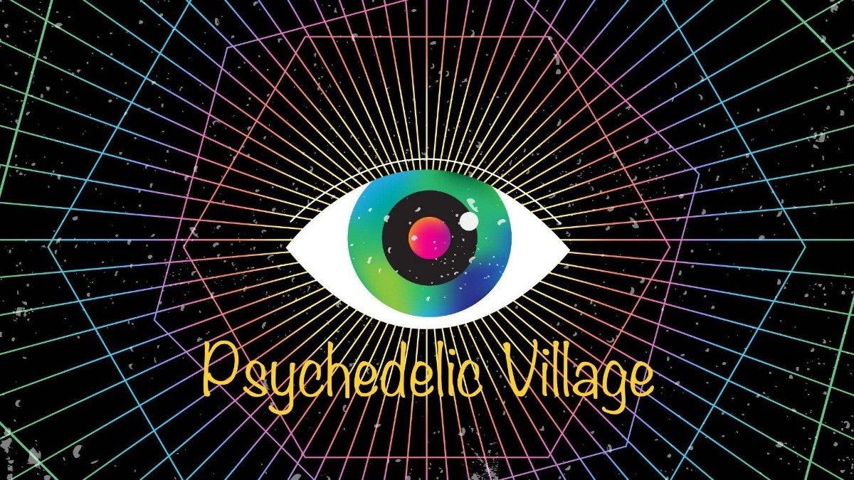 Party Flyer Psychedelic Village /w. Benni Moon, Ismir, Chorea Lux 28 Sep '19, 23:00