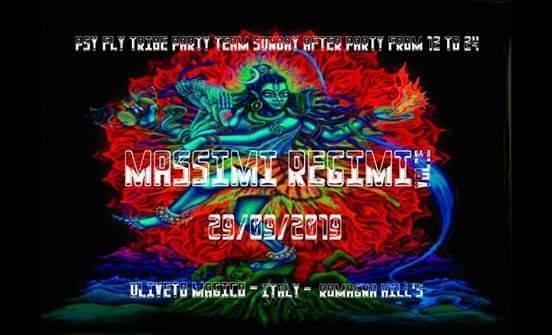 Party Flyer Massimi regimi vol 15 29 Sep '19, 12:00