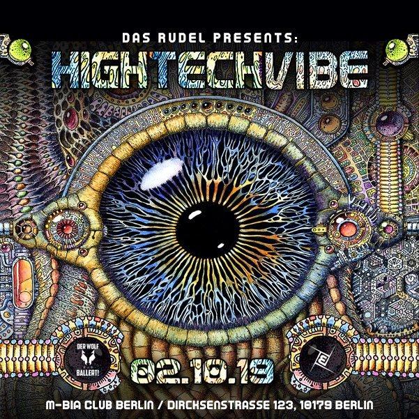 Party Flyer Hightech Vibe /w OxiDaksi, Hitech & Psy, Prog 2 Oct '19, 23:00