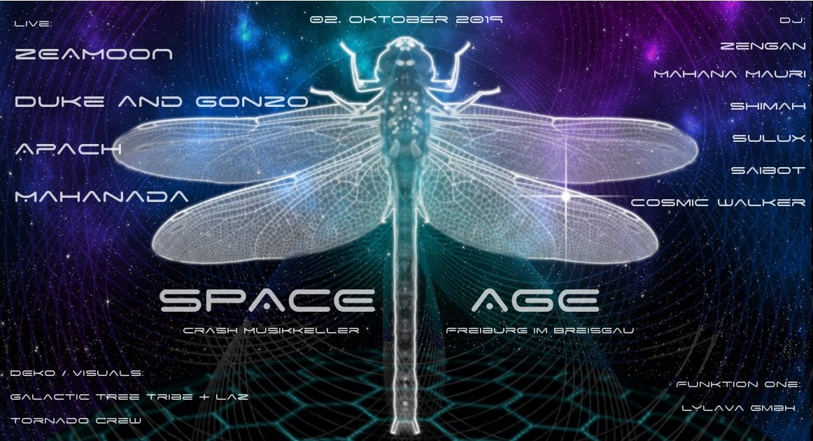 Party Flyer Space Age 2 Oct '19, 22:00
