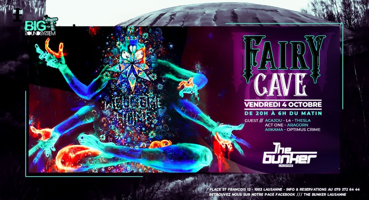 Party Flyer Fairy Cave 4 Oct '19, 20:00