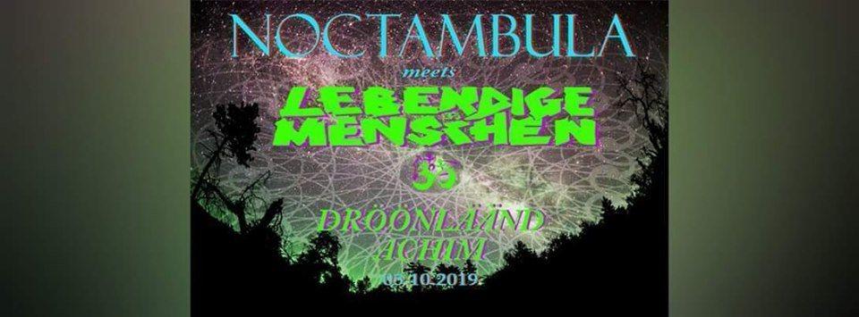 Party Flyer Noctambula meets Lebendige Menschen 5 Oct '19, 22:30