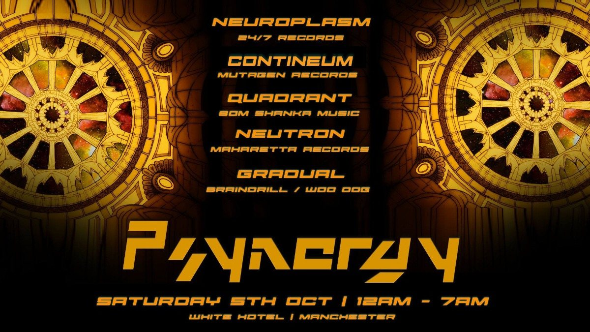Psynergy presents: Neuroplasm 5 Oct '19, 23:30