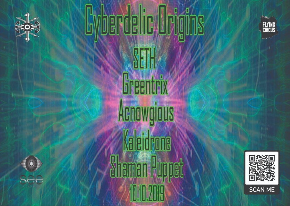 Party Flyer Cyberdelic Origins 10 Oct '19, 22:00