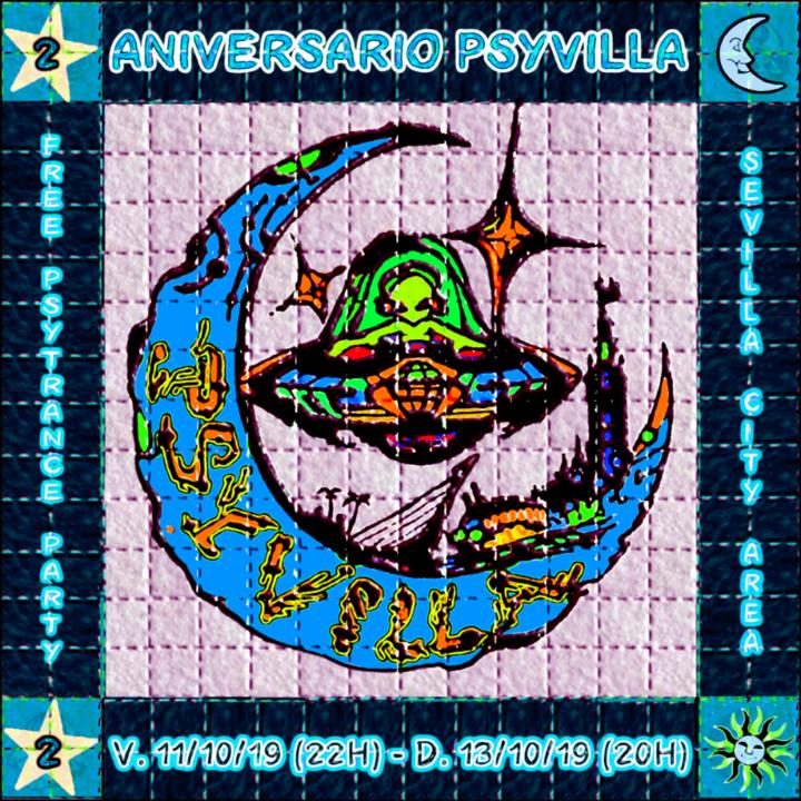 Party Flyer 2º ANIVERSARIO PSYVILLA 11 Oct '19, 22:00