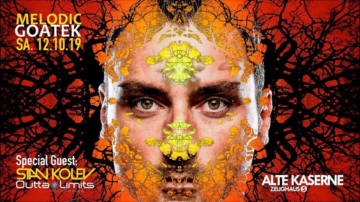 Party Flyer Melodic Goatek w/ Stan Kolev 12 Oct '19, 23:00