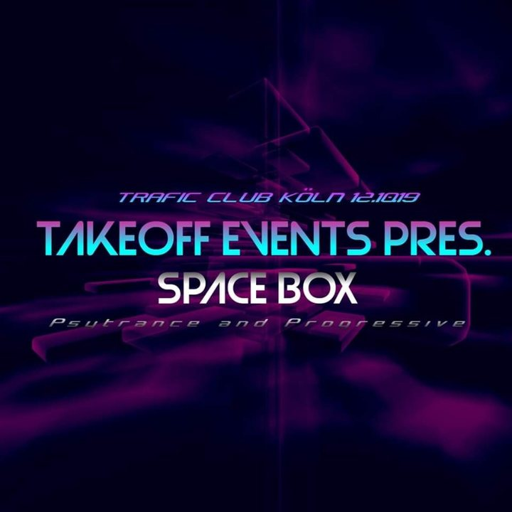 Party Flyer ✘ TakeOff Events Pres. ✘ Space Box ✘ Djapatox Live ✘ 12 Oct '19, 23:00
