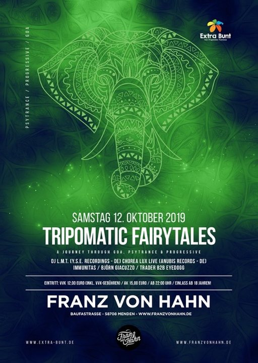 Tripomatic Fairytales #5 12 Oct '19, 22:00