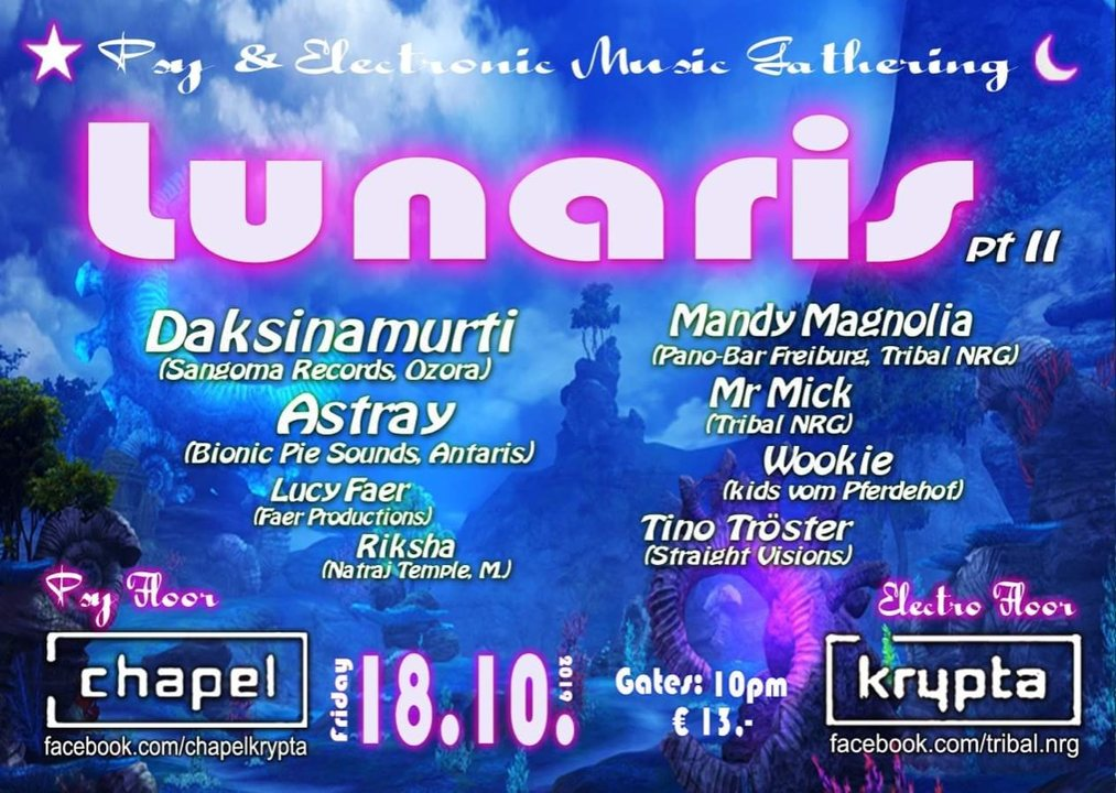 Party Flyer Lunaris ll 18 Oct '19, 22:00