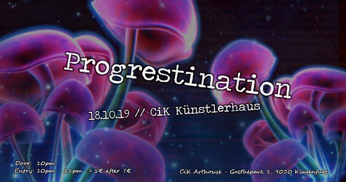 Party Flyer Progrestination // Progressive Psytrance 18 Oct '19, 22:00