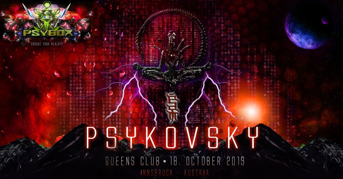 Party Flyer Psybox pres. Psykovsky - 8 Hours Ritual 18 Oct '19, 22:00