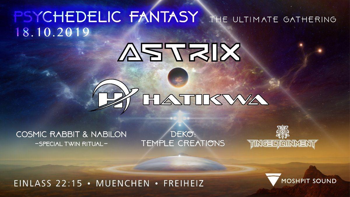 Party Flyer Psychedelic Fantasy ASTRIX 18 Oct '19, 22:30
