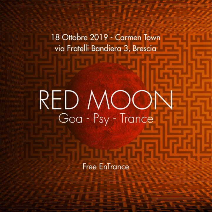 Party Flyer Red Moon & Bao [ Blacklite Records ] x Carmen Town | Brescia 18 Oct '19, 22:30