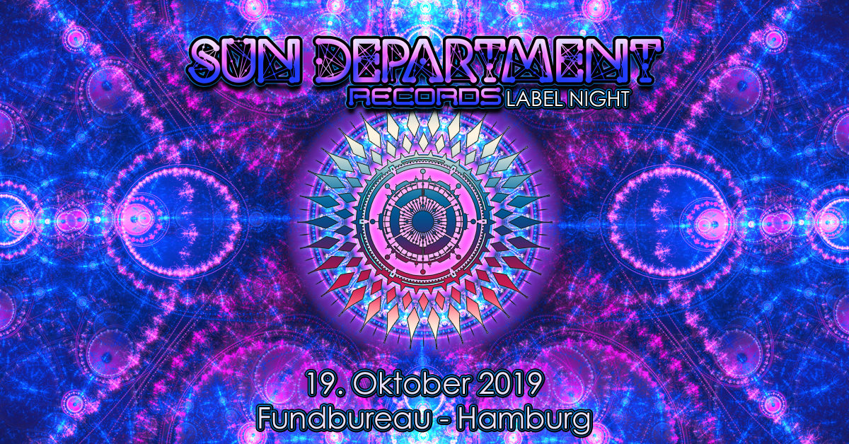 Party Flyer Sun Department Records Label Night 19 Oct '19, 23:00