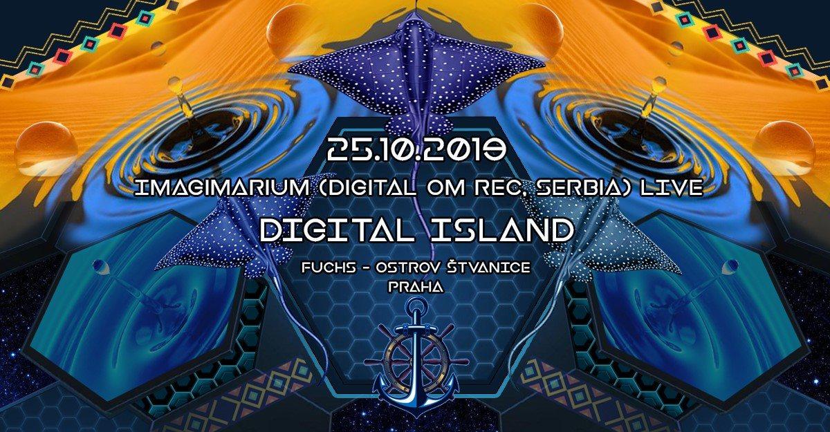 Party Flyer Digital Island II w. Imaginarium (Serbia) 25 Oct '19, 18:00