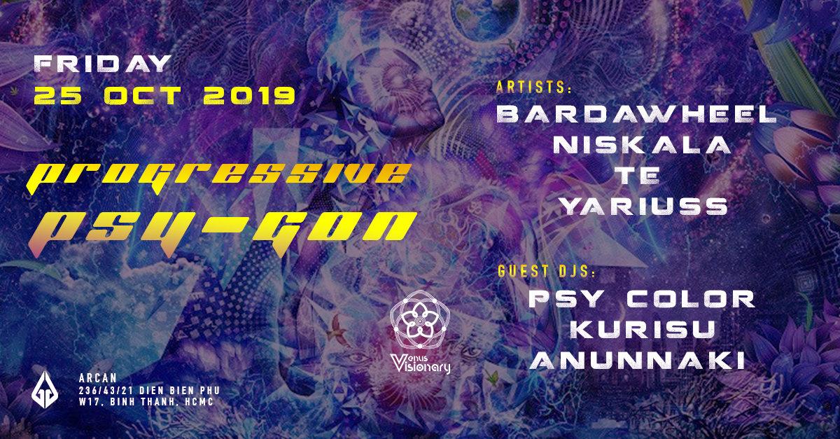 Party Flyer Progressive Psy-Gon 25 Oct '19, 22:00