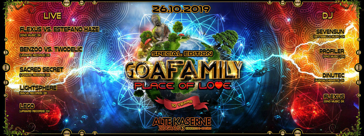 Party Flyer ☆☆☆☆☆ 10 years GOAFAMILY - Place of Love ☆☆☆☆☆ 26 Oct '19, 22:30