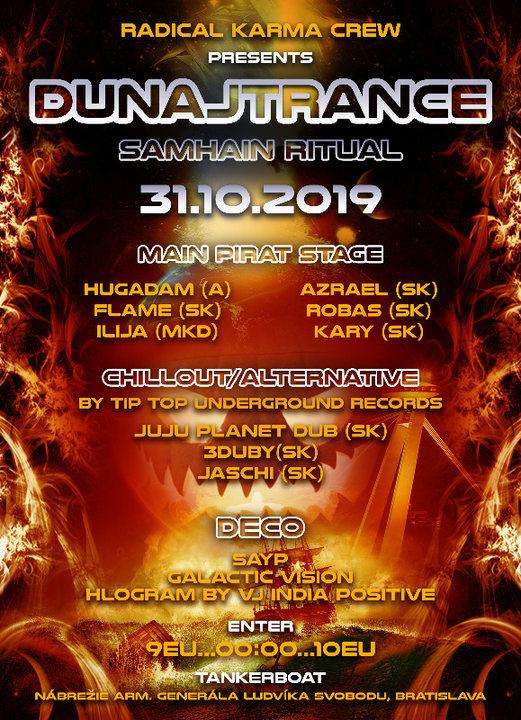 Party Flyer DUNAJTRANCE(Samhain ritual)w/HuGadam 31 Oct '19, 20:00