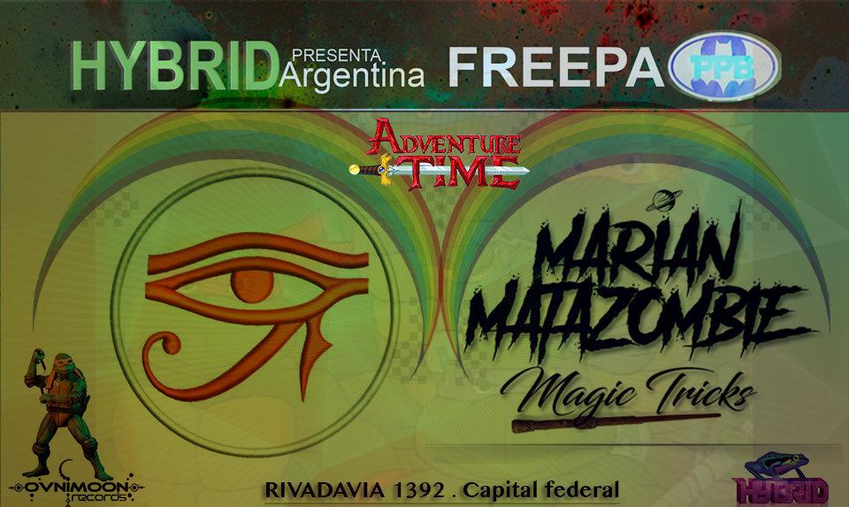 Party Flyer Free party at PPB // Psytrance night // Hybrid Argentina 1 Nov '19, 22:30