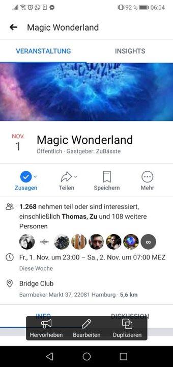 Party Flyer Magic Wonderland 1 Nov '19, 23:00