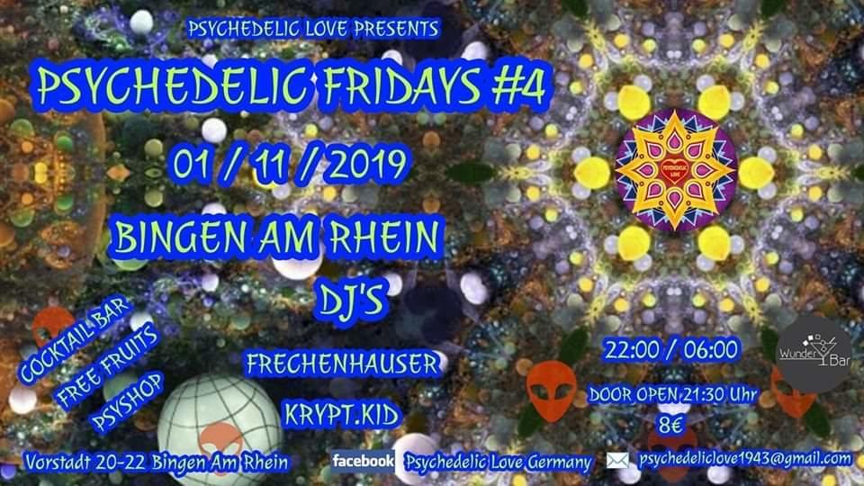 Party Flyer Psychedelic Fridays #4 1 Nov '19, 22:00