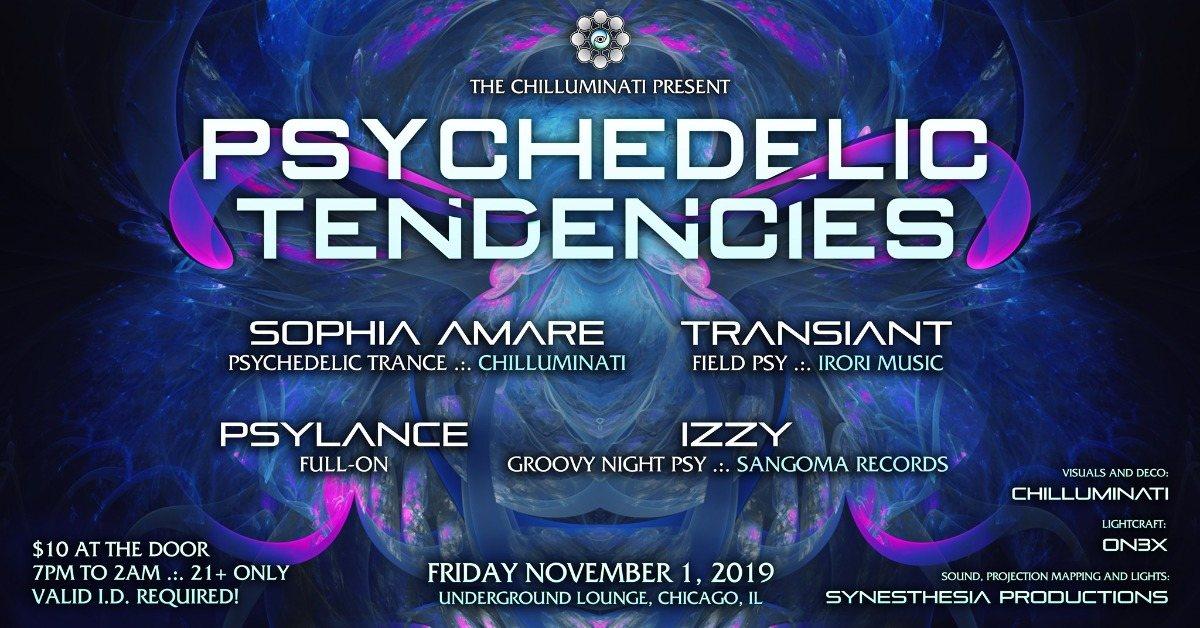 Party Flyer Psychedelic Tendencies 1 Nov '19, 19:00