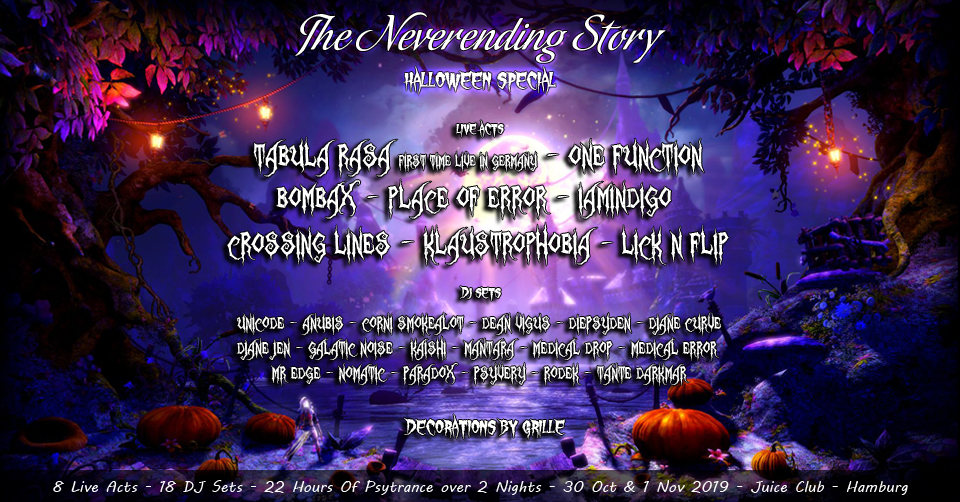 Party Flyer TNS: Halloween Special with 2 nights of Goa (Part 2) 1 Nov '19, 23:00