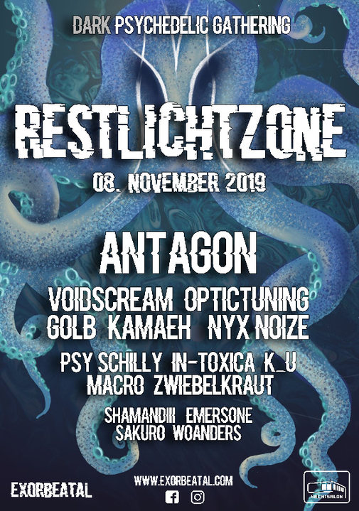Party Flyer Restlichtzone II / Antagon LIVE 8 Nov '19, 22:00