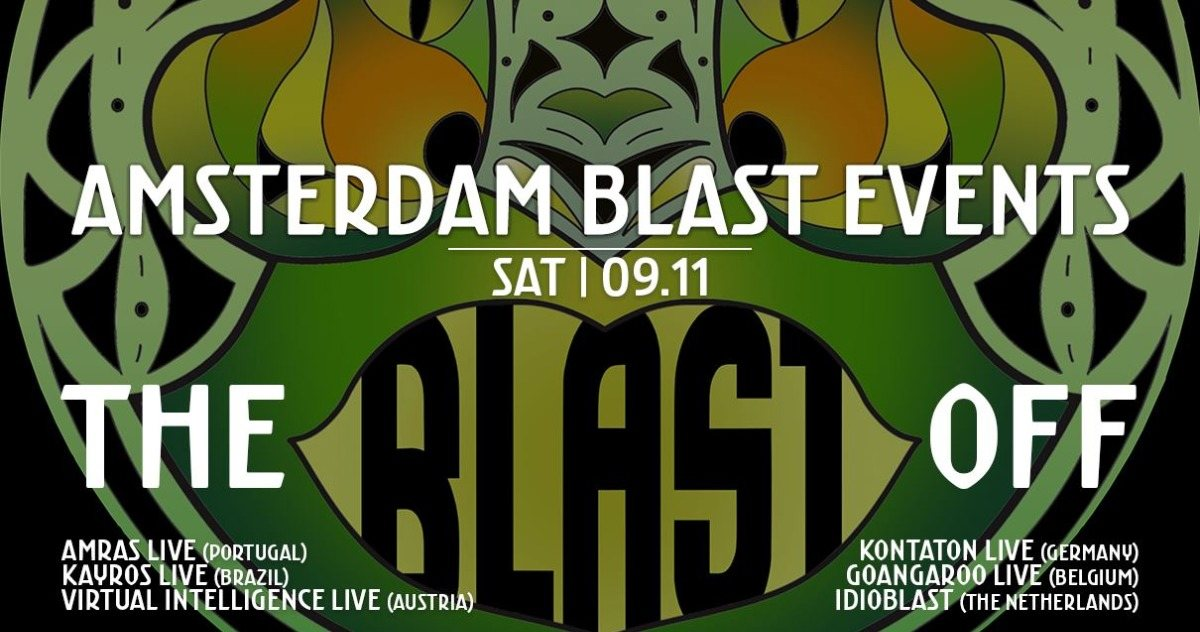 Party Flyer Amsterdam Blast Events: Blast Off 9 Nov '19, 22:00