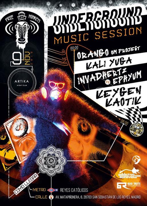 Party Flyer UndergroundMusicSession // Psy-DnB-HardTek 9 Nov '19, 23:30