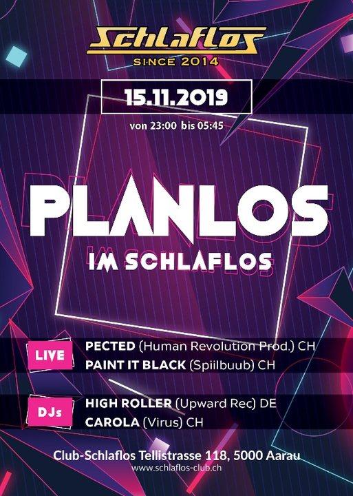 Party Flyer Planlos Im Schlaflos 15 Nov '19, 23:00