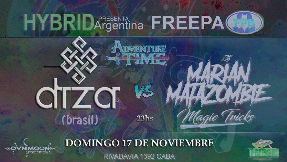 Party Flyer Hybrid argentina pres. DIZA (Zenon records) // Brasil // 17 Nov '19, 22:30