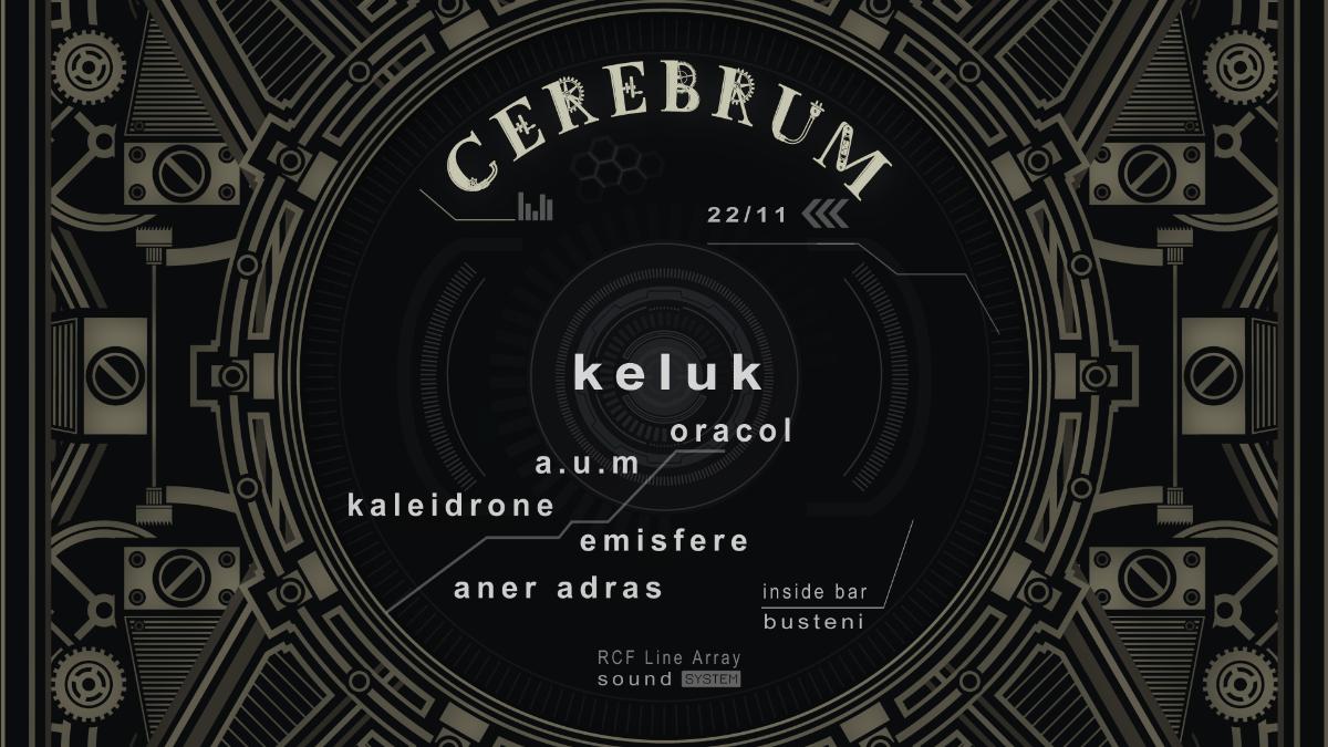 Party Flyer Cerebrum w/ Keluk & friends 22 Nov '19, 22:00