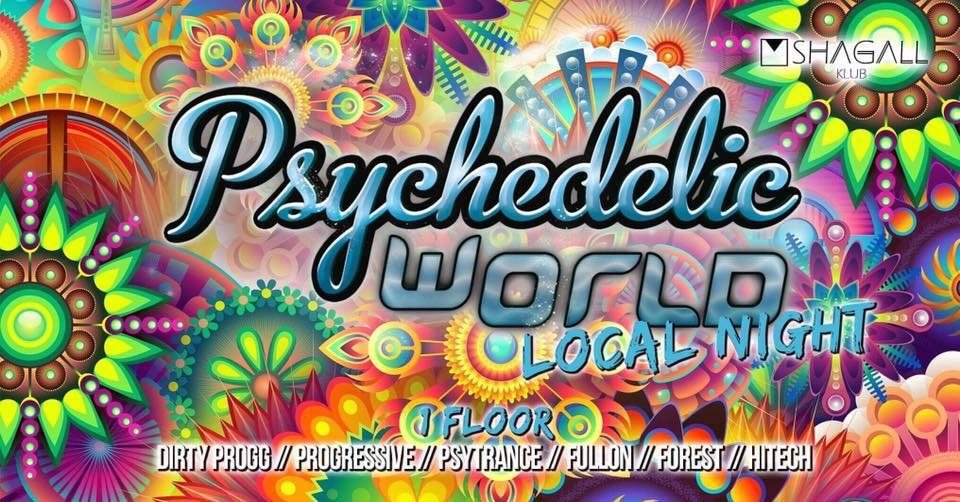 Party Flyer Psychedelic World | Local Night 22 Nov '19, 23:00