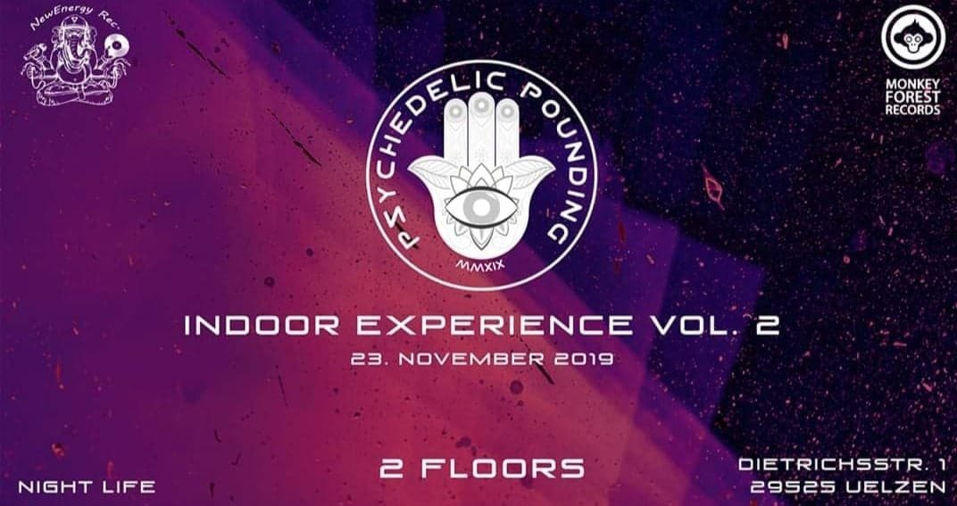 Party Flyer Psychedelic Pounding Indoor Eperience Vol. 2 23 Nov '19, 22:00