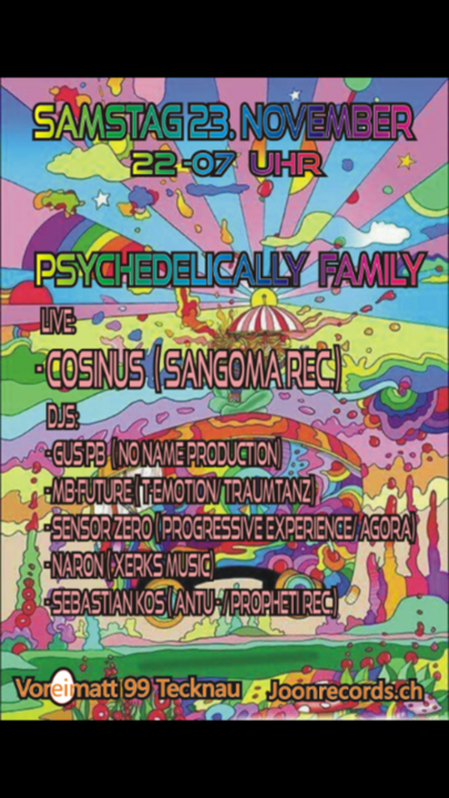 Party Flyer Psychedelically Family 23 Nov '19, 22:00