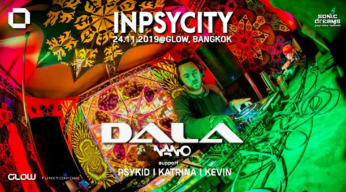 Party Flyer Inpsycity Special w/ DALA at GLOW ! 24 Nov '19, 21:30