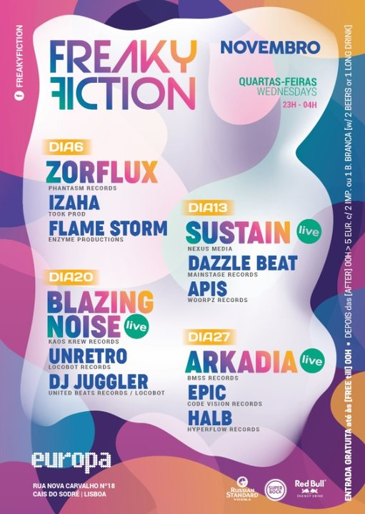 Party Flyer FREAKY FICTION 27 Nov '19, 23:00