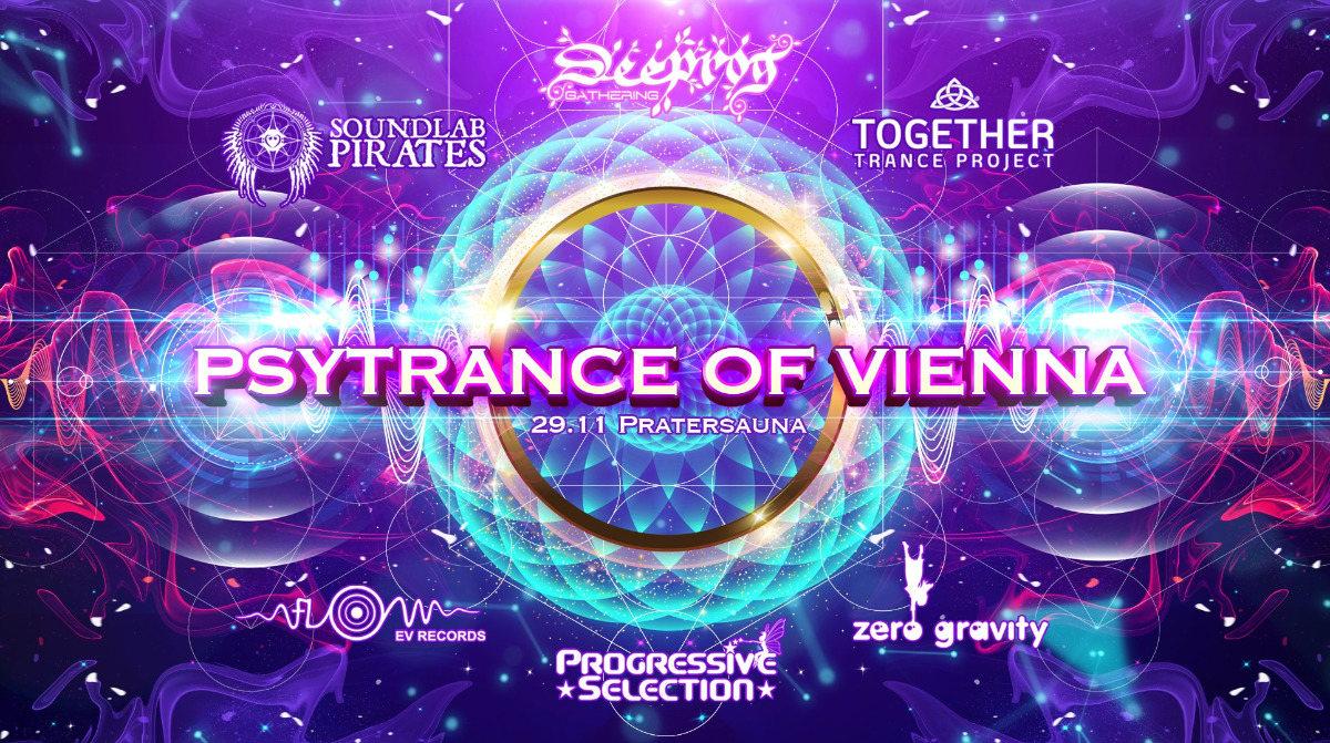 Party Flyer PSYTRANCE OF VIENNA - 6 Crews on 4 Floors! 29 Nov '19, 23:00